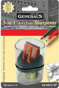 Picture of General's Art & Craft Sharpener 3 in 1