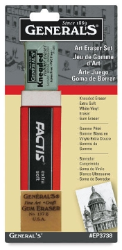 Picture of General's Art Eraser Set of 3