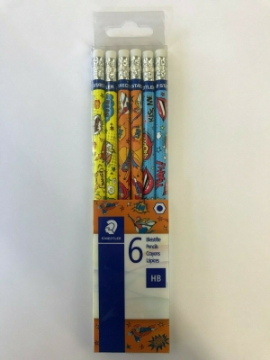Picture of Staedtler Pencils Pack of 6 (Comic Design)