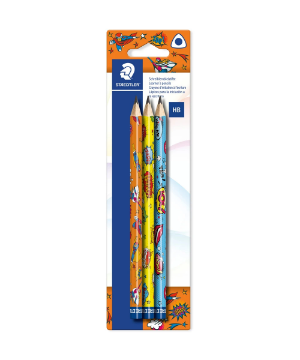 Picture of Staedtler Pencil- HB Pack of 3 (Comic Design)