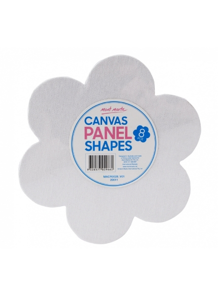 Picture of Mont Marte canvas Panel Shapes Set of 8