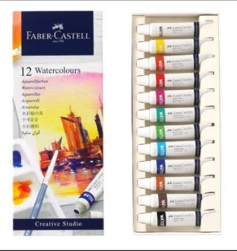 Picture of Faber Castell Water Colour Set of 12x9ml