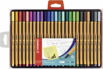 Picture of STABILO Point 88 Fineliners -Pack of 25