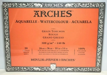 Picture of Arches Watercolour Paper Block -300GSM-26x36CM-10x14INCH-Rough
