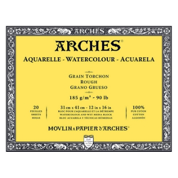 Picture of Arches Watercolor Paper Block-185GSM-31x41CM-12x16INCH-Rough