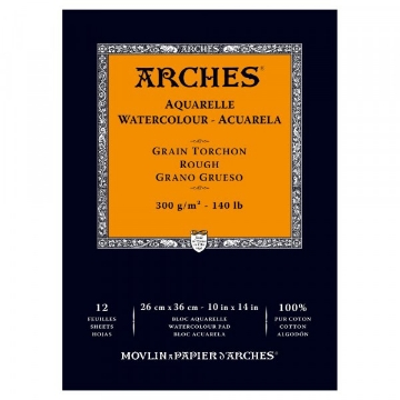 Picture of Arches Watercolor Paper Pad-300GSM-26x36CM-10x14INCH-Rough