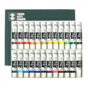 Picture of Turner acrylic gouache 24 color set (20 ml)