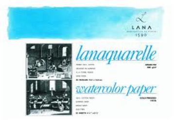 Picture of Lanaquarelle Watercolour Paper Block 20 sheets (Matt / Fine Grain / Cold Pressed) 46*61 cm