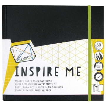Picture of Derwent Graphik Inspire Me Book Small 120gsm-80pgs
