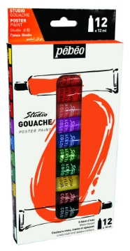 Picture of Pebeo Studio Gouache Poster Paint set of 12x12ml