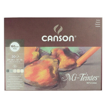 Picture of Canson MiTeintes Pad 160 gsm 6 x 5 Assorted Earth Tones 24x32cm