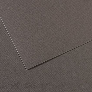 Picture of Canson MiTein 160g A4  Pack of 5 sheets Dark Grey 345