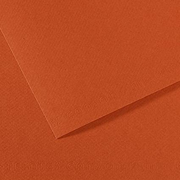 Picture of Canson MiTein 160g A4  Pack of 5 sheets Red Earth 130