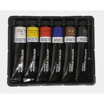 Picture of Brustro Artists Acrylic Colour Set Of  6 X 12ml