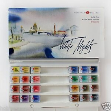 Picture of White Nights Artists Water Colours  Set of  24