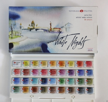 Picture of White Nights Artists Water Colours  Set of  36