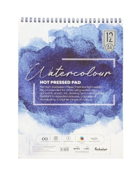 Picture of Scholar Water Colour Pad HP A4 300gsm 12Sheets