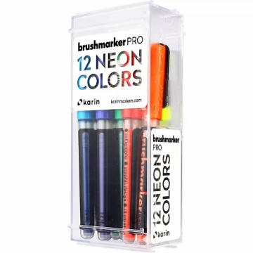 Picture of Karin Brushmarker PRO Neon Colours Set of 12