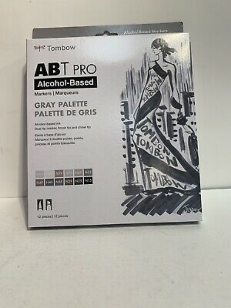 Picture of Tombow ABT Pro Alcohol Based Markers Set of 12- Gray
