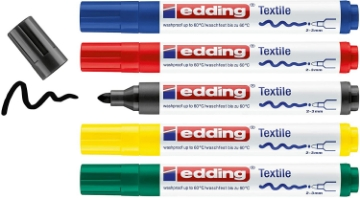 Picture of Edding Textile Marker 2-3mm Set of 5 4-4500-5S