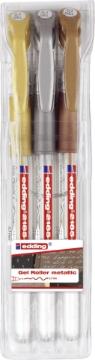 Picture of Edding Gel Roller MetallicPen Set of 3(4-2185-3999