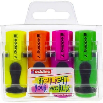 Picture of Edding Mini Highlighter Set of 4 (4-7-4)