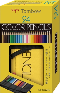 Picture of Tombow Color Pencil set of 24 with Roll-up Case