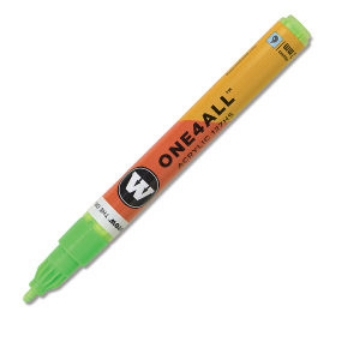 Picture of Molotow One 4 All Acrylic Marker 2mm  - Neon Green Fluorescent