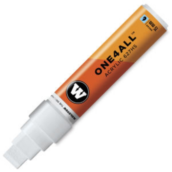 Picture of Molotow One 4 All Acrylic  Marker 15mm - Signal White