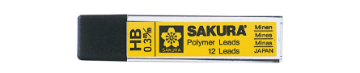 Picture of Sakura Polymer Lead 0.3mm-HB Pack of 12
