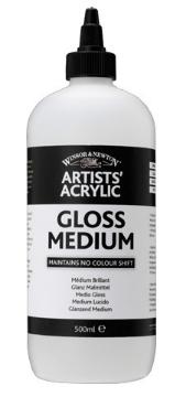 Picture of Winsor & Newton Artists Acrylic Gloss Medium 500ml