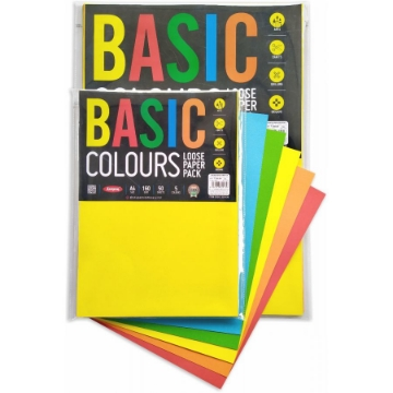 Picture of Anupam Basic Colour Loose Paper Pk A4 160Gsm 50 Sheets