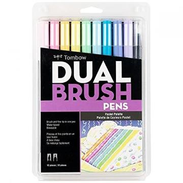 Picture of Tombow Dual Brush Pen Set 12 - Pastel Palette