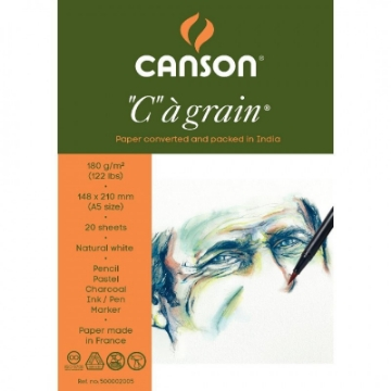 """Picture of Canson """"C""""a' grain Polypack 180 gsm A5 14.8x21cm"""