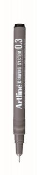 Picture of Artline Drawing System Pen Black 0.3mm