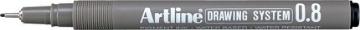 Picture of Artline Drawing System Pen Black 0.8mm