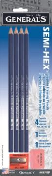 Picture of General Semi-Hex Graphite Pencils Set Of 4-497Bp