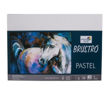 Picture of Brustro Pastel Paper 160Gsm A4 White Pack Of 12