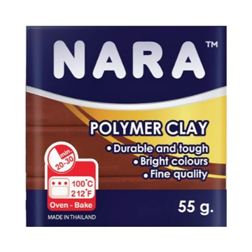 Picture of Nara Polymer Clay Brown 55g