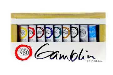 Picture of Gamblin 1980 Oil Colours Introductory Set 9x37ml