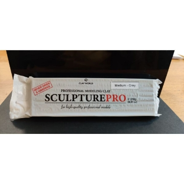 Picture of Clay World Sculpture Pro professional modeling 250gms Grey (Medium)