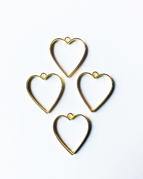 Picture of HTC Craft Diy Metal Imitation fitting 4Pcs Heart