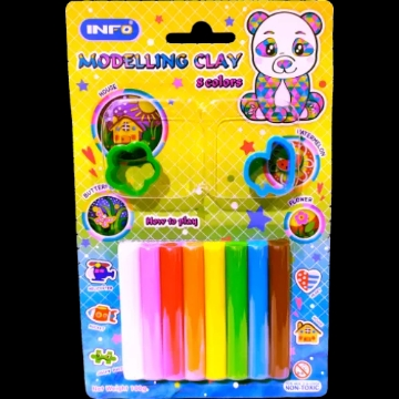 Picture of Inzo Modelling Clay 100G - Set Of 6 Colours