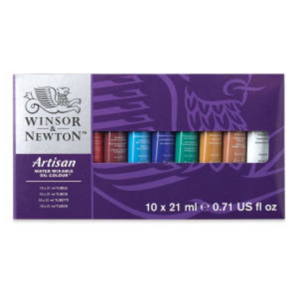 Picture of WINSOR & NEWTON Artisan Water-mixable Oil Colour Studio Set of 10x21ml