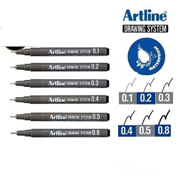 Picture of Artline Drawing System Technical Pens Set Of 6